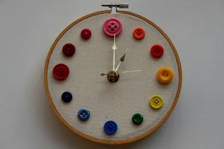 decoração com botões de roupa