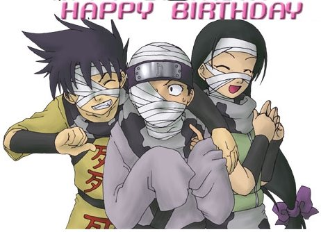 Anime Greeting Cards Anime Group Happy Birth Day