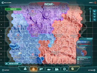 PlanetSide 2 - Map Interface Indar