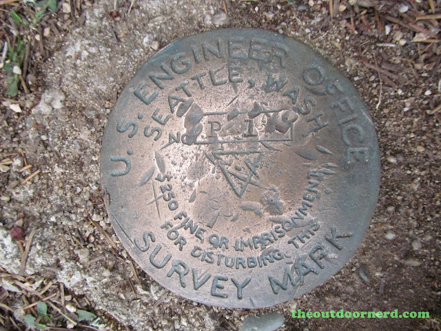 Outlet Campgrounds At Priest Lake, Idaho: Survey Marker