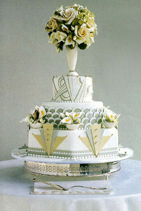 Art Deco Inspired Wedding Cake : Wedding Cakes Pictures: Art Deco Wedding Cakes