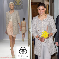 MAYLA Coat and BY MALENE BIRGER Clutch Bag Style of Princess Victoria