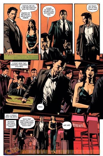 Pagina de Inaudito nº1: Temporada de Fantasmas Hambrientos, de Andy Diggle