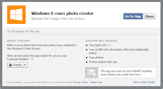 Membuat Tampilan Windows 8 Di Foto Kronologi Facebook
