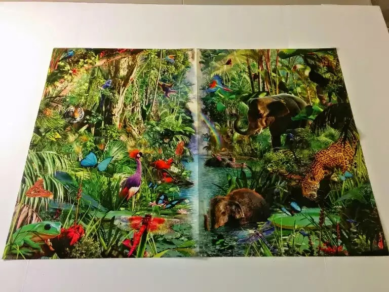 Ravensburger Jungle Animals 9000 piece jigsaw puzzle poster