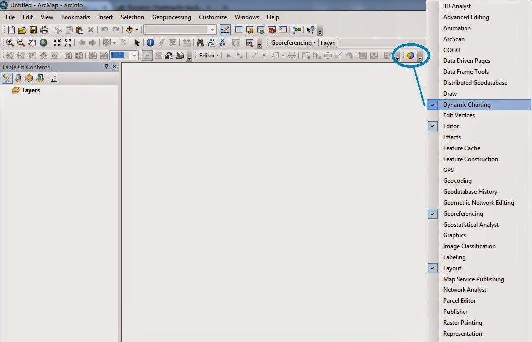 Menampilkan diagram lingkaran dan grafik di arcgis 10 air itu kemudian buka arcgis 10 klik kanan di area kosong kemudian aktifkan toolbar dynamic charting ccuart Image collections