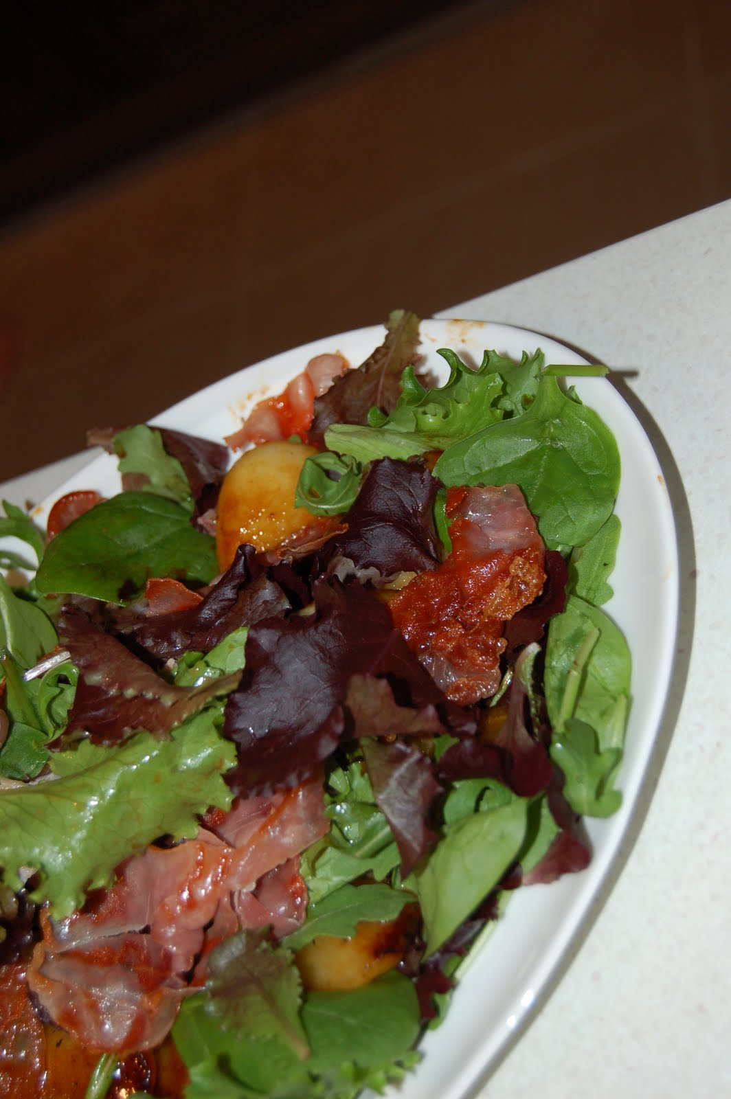 My Life and Loves: Pan-fried balsamic pear salad with pancetta ...