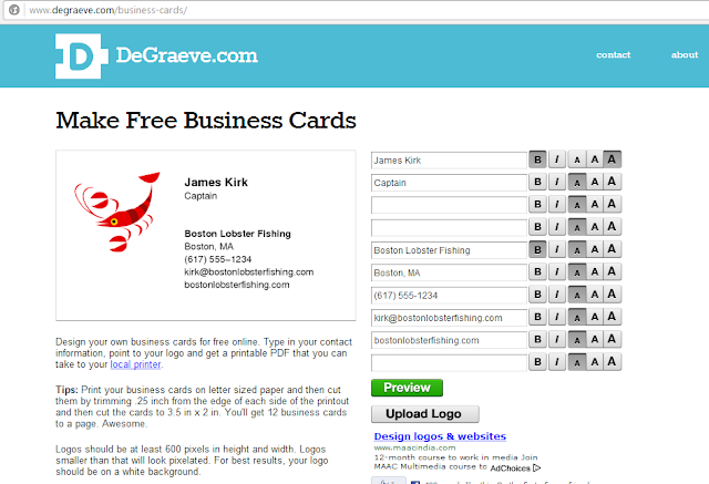 Best free online business card maker digitophile 1 degraeve reheart Choice Image