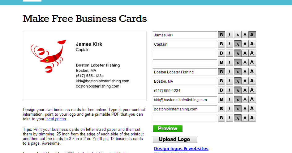 Best free online business card maker reheart Gallery