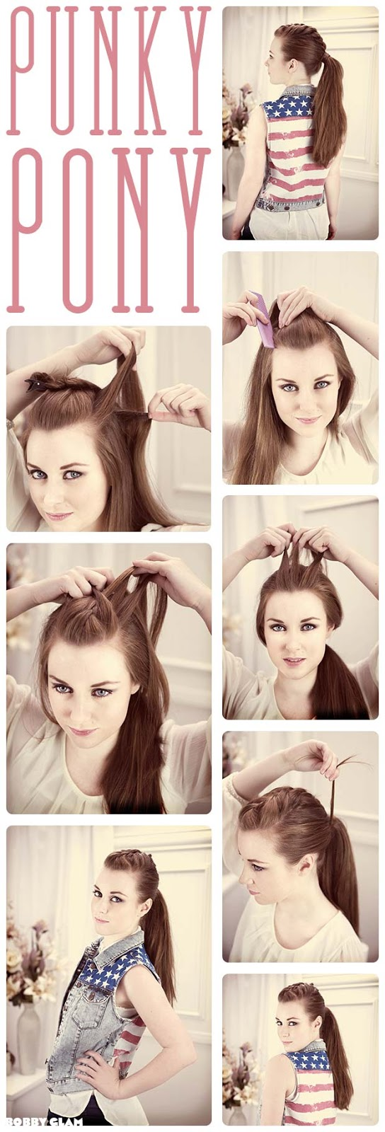 Fashion and Beauty - Punky Ponytail Tutorial