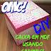 Como pintar caixa em MDF usando carimbo