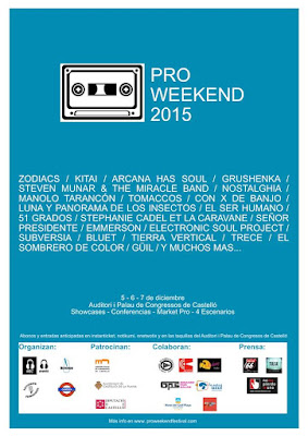 Primeros nombres de la primera edición del @proweekendfest de #castellón Medio oficial