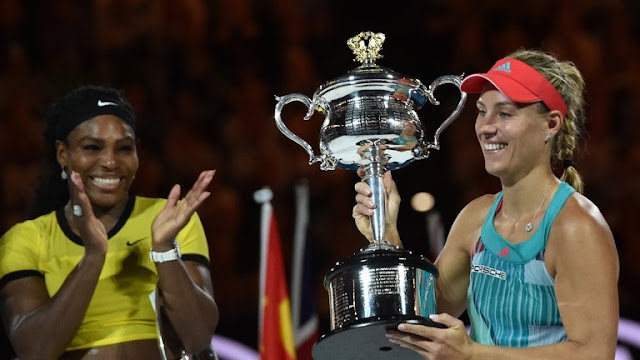 Kerber stuns Serena to win Australian Open final