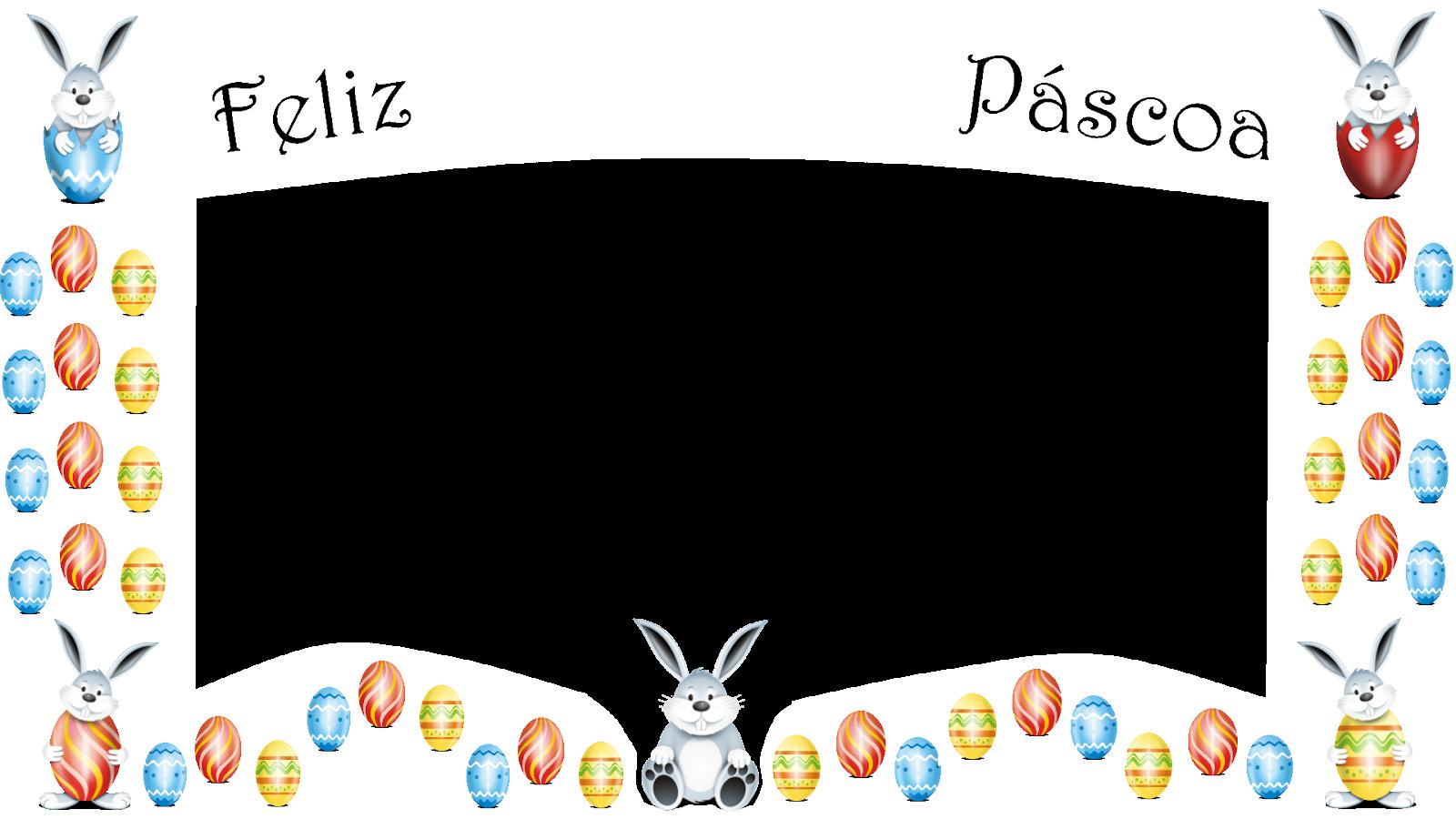 Coelhinhos e ovos-Feliz Pascoa_borda branca png