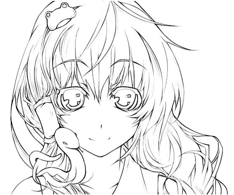 printable-sanae-kochiya-snake-coloring-pages