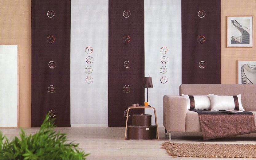 Mi casa mi hogar paneles japoneses en salas for Telas para paneles japoneses