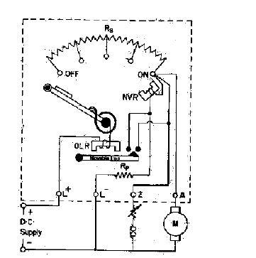 Dc Motor Terminals together with Three Point Starter as well Dc Shunt Motor Wiring Diagram together with  on dc motor starting two and three point