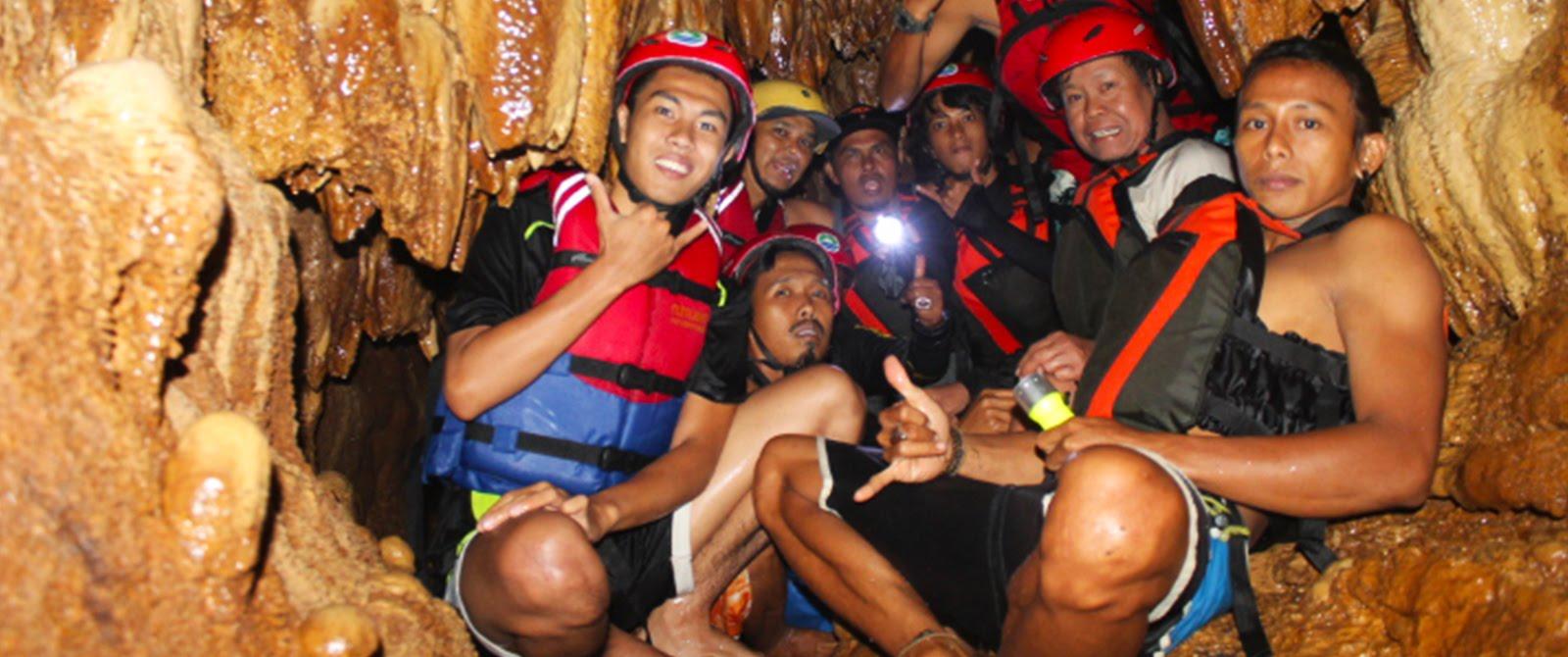Caving Dan Rafting Bisa Anda Nikmati Jika Body Rafting Digoa Lanang.