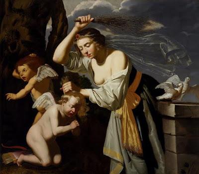 venus castigando al amor profano, escena de flagelacion de jan van bijlert