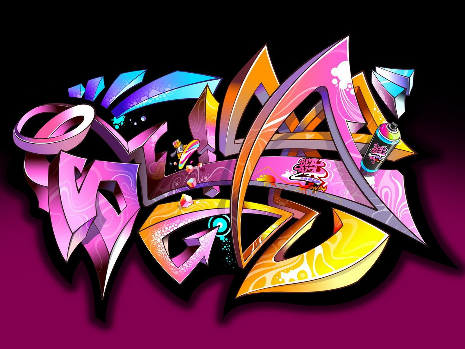 Graffiti wallpaper new graffiti art for Graffiti wallpaper