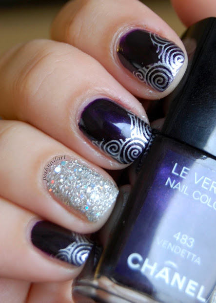 posh nail art chanel vendetta