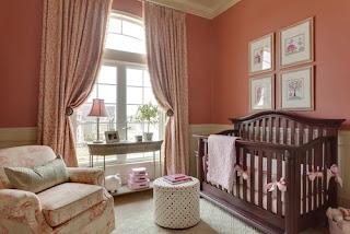 habitación para bebé chocolate rosa