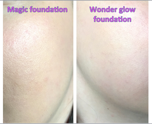 As You Can See, The Magic Foundation Does Give A Much Fuller Coverage.  These Are Both In The Shade 3 Which Is For Fair To Light Skin With Cool  Undertones ...