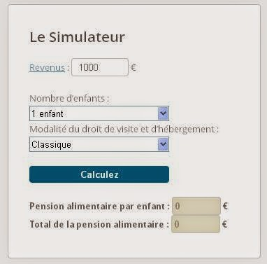 simulateur de pension alimentaire