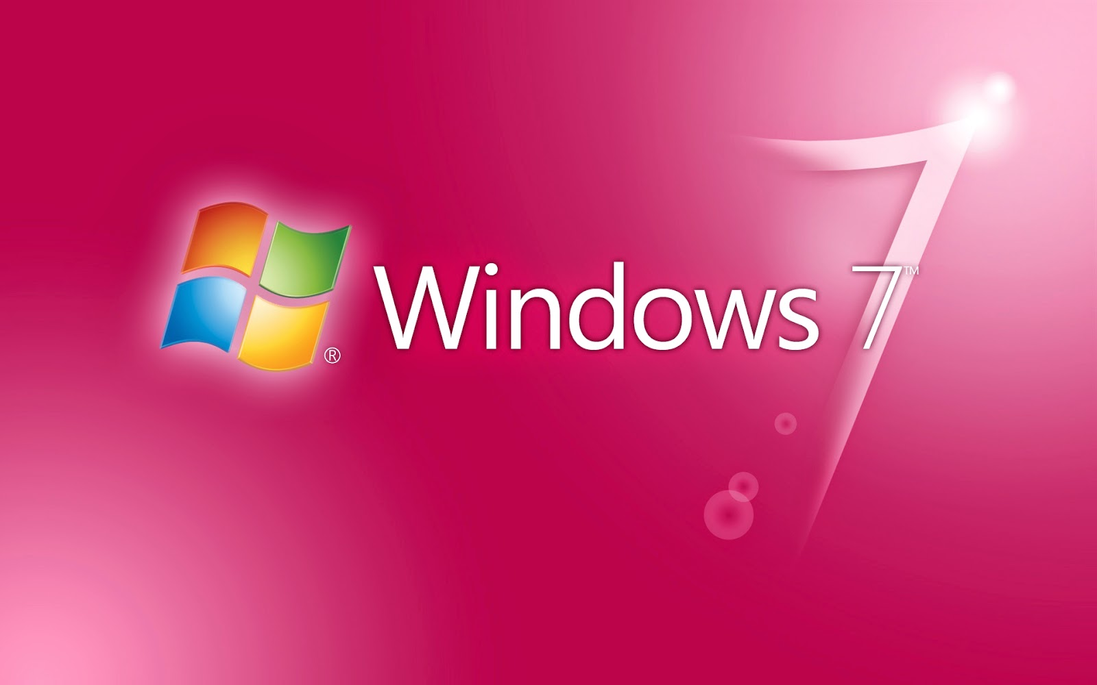 Rosa Windows 7 desktopmotiv