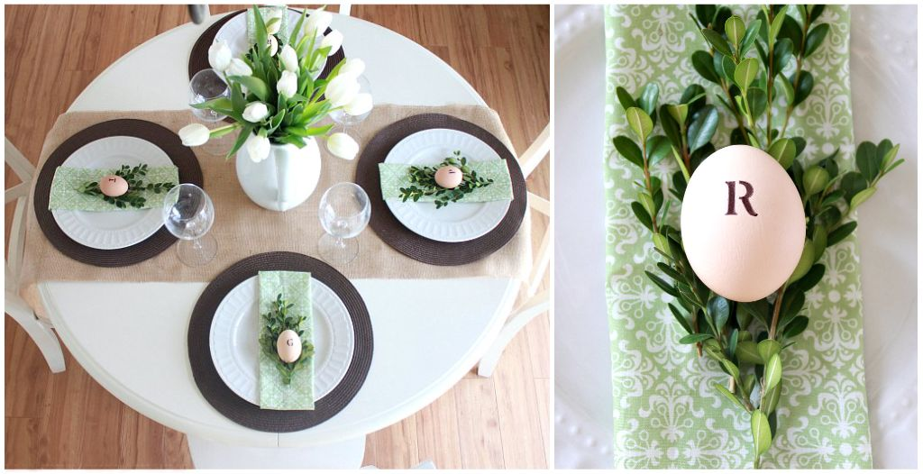 Wonderful Green U0026 White Tablescape Great Ideas
