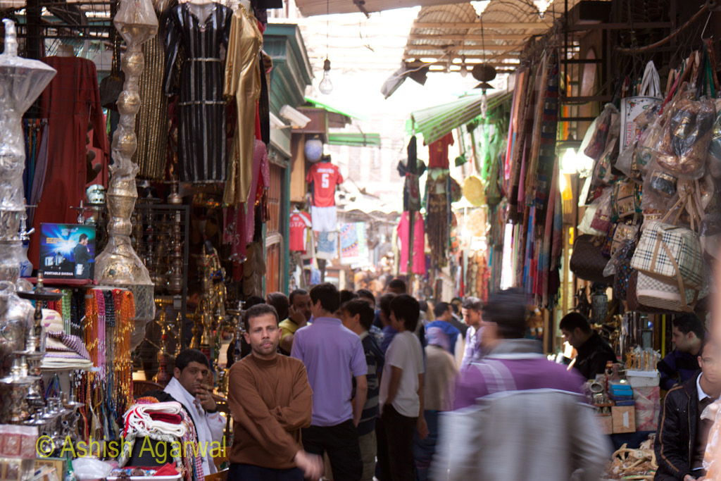 Khan el Khalili market in Cairo - right near the entry point to the market