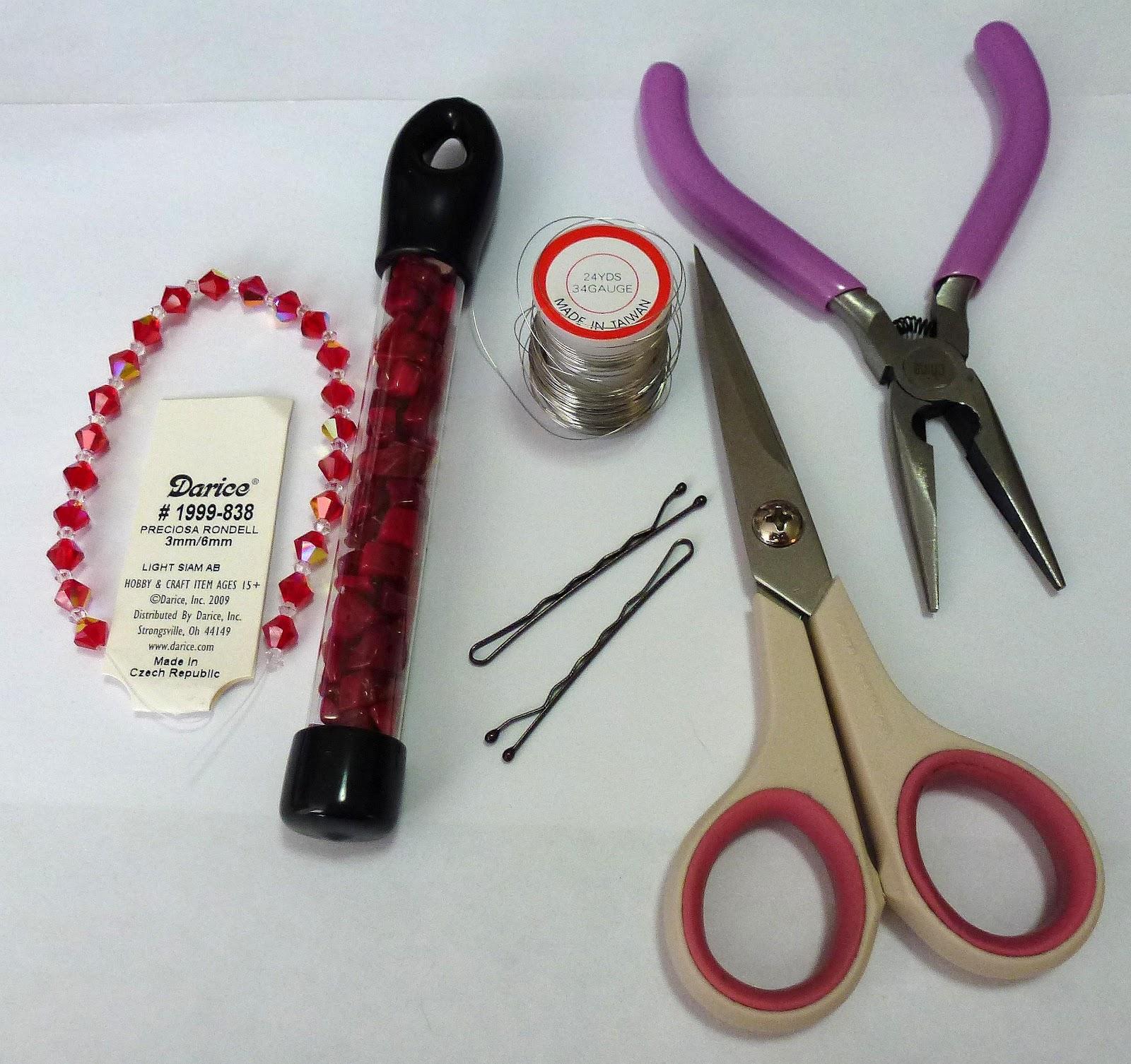 Leslie\'s Art and Sew: Beaded Hair Pins Mini Tutorial