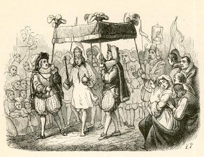 El traje nuevo del emperador, ilustración de Vilhelm Pedersen.