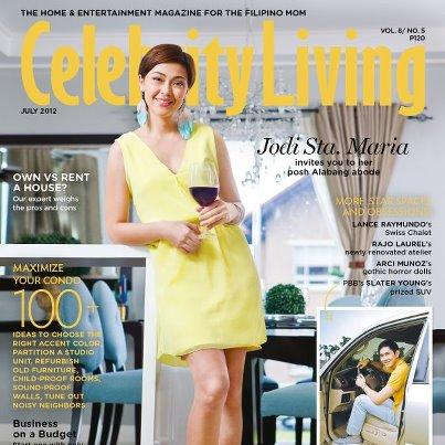 ... Cover: Celebrity Living - July 2012 - Jodi Sta. Maria (Philippines