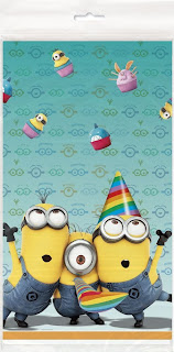 despicable me plastic party table cover