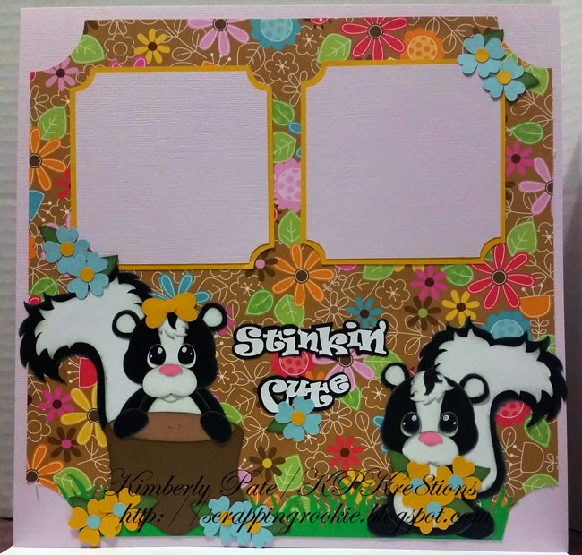 Stinkin' Cute Scrapbook Layout