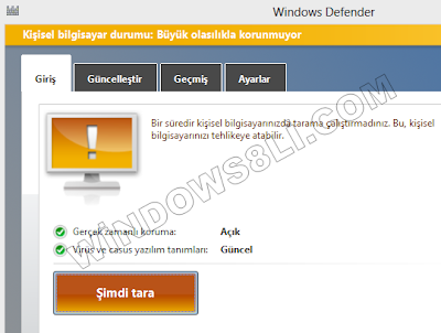 Windows Defender Korunmuyor