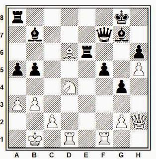 Posición de la partida de ajedrez Feibert - Ghritescu (Metz, 1990)