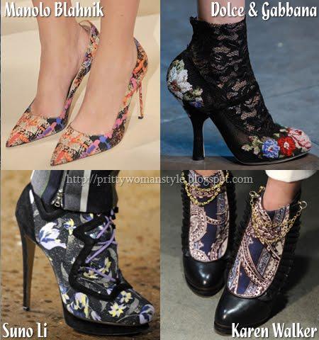 есенни обувки на цветя
