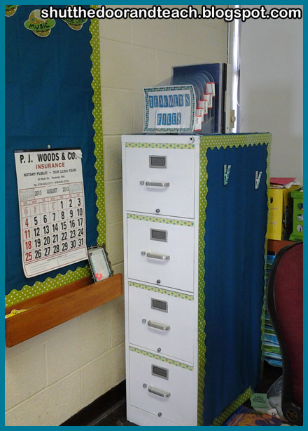 Shut The Door And Teach Classroom File Cabinet Makeover