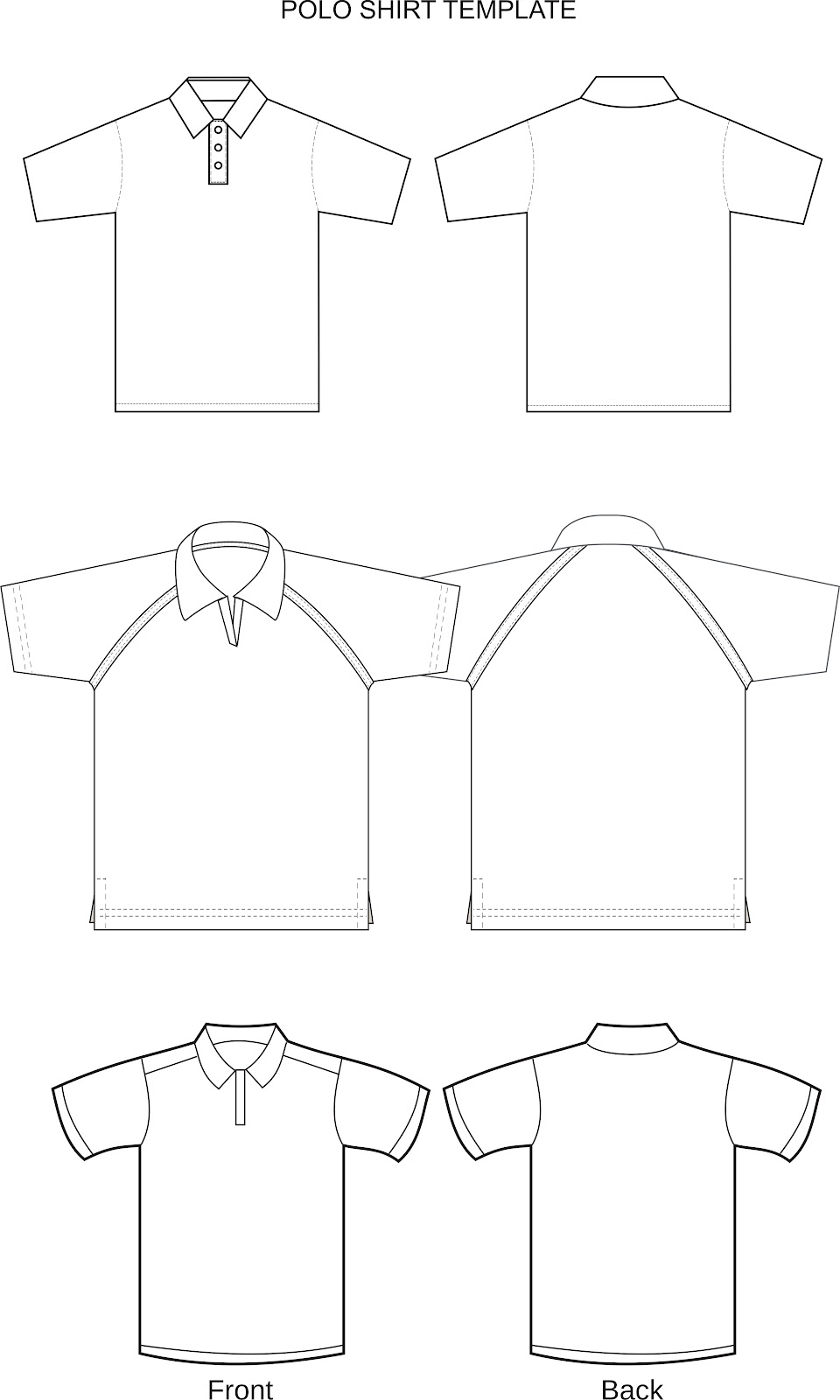 Polo shirt template joy studio design gallery best design for Polo shirt design template