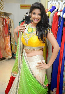 Shruthi Yugal in Lovely Saree Chania CHoli Stunning Designer Saree Must see Beauty