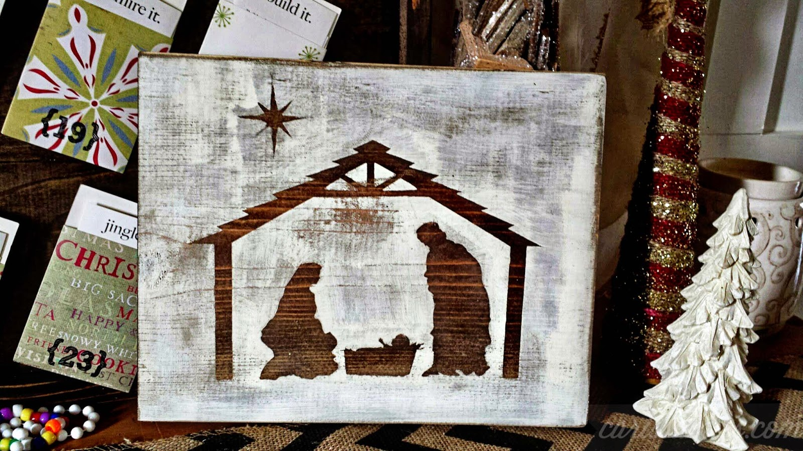 Carissa Miss: Simple Wood Nativity