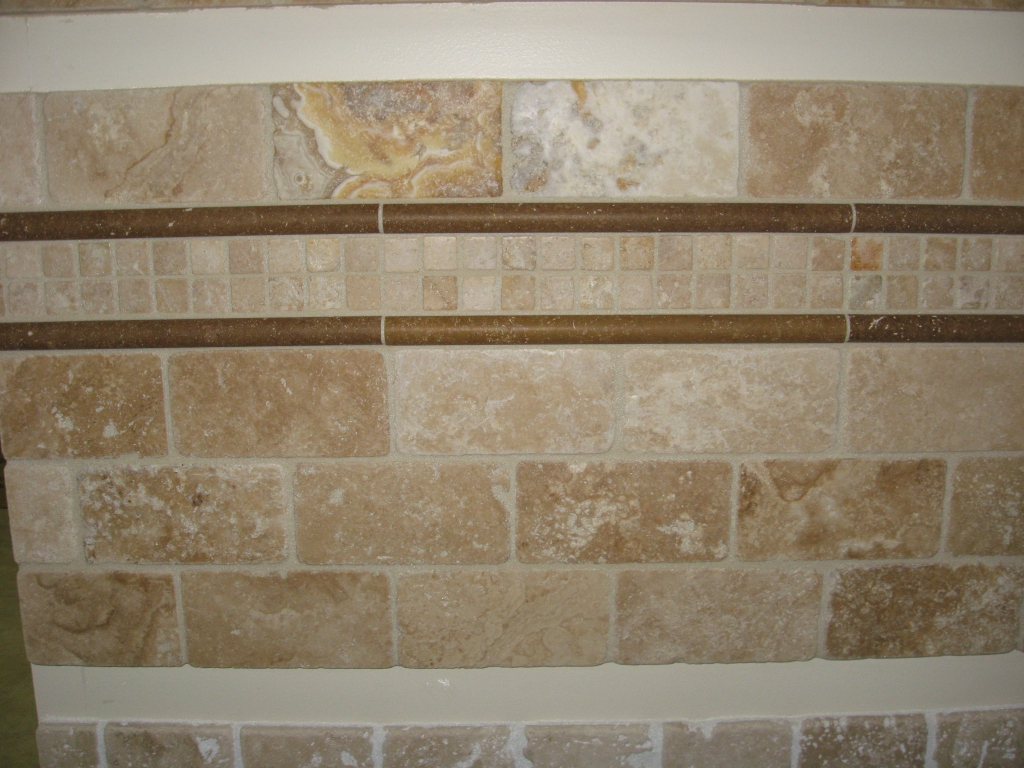 Qualey Granite And Quartz New Travertine Natural Stone Tile Backsplash Display