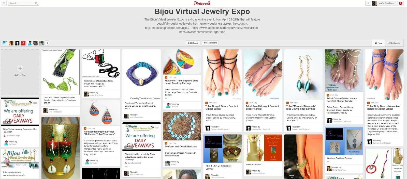 The Bijou Virtual Jewelry Expo Pinterest Board