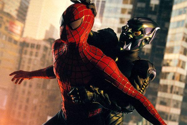 Spidey on screen spider man 2002