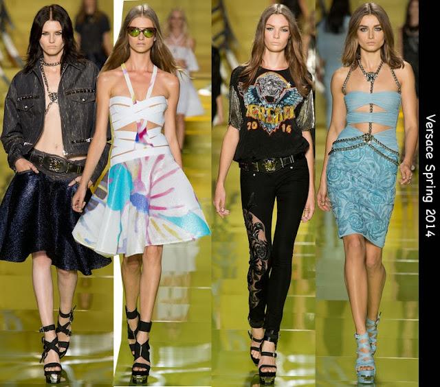 versace spring 2014 rock dresses