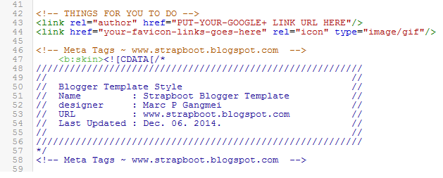 Strapboot Blogger Template