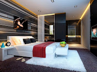 modern bedroom 3d design