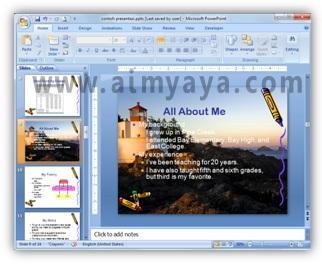 Gambar:  Contoh gambar latar belakang pada slide Microsoft Powerpoint